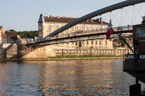 Bridge over the river Vistula in Kraków (Poland)